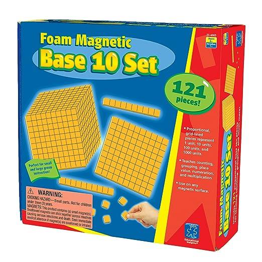 Amazon.com: Educational Insights Foam Magnetic Base 10 Set (121 ...