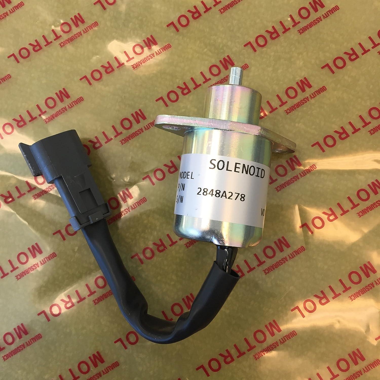 Fuel Shutoff Solenoid 2848A278 Fit for Perkins CAT 246 Skid Steer UB704 Engine