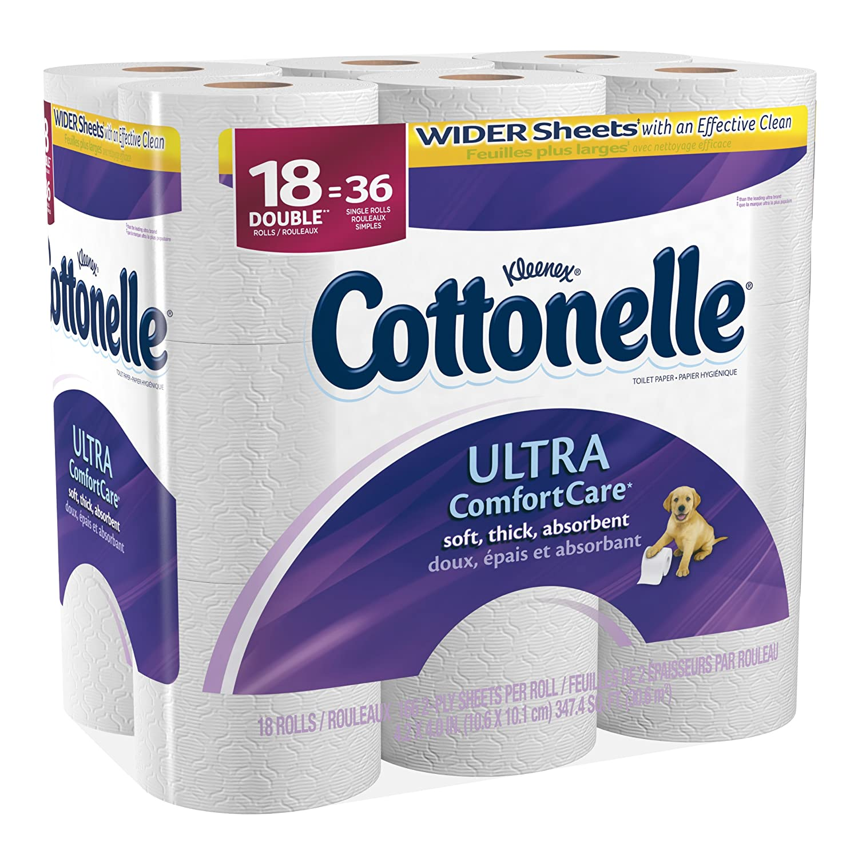Amazon.com: Cottonelle Toilet Paper Ultra Comfort Care Double ...