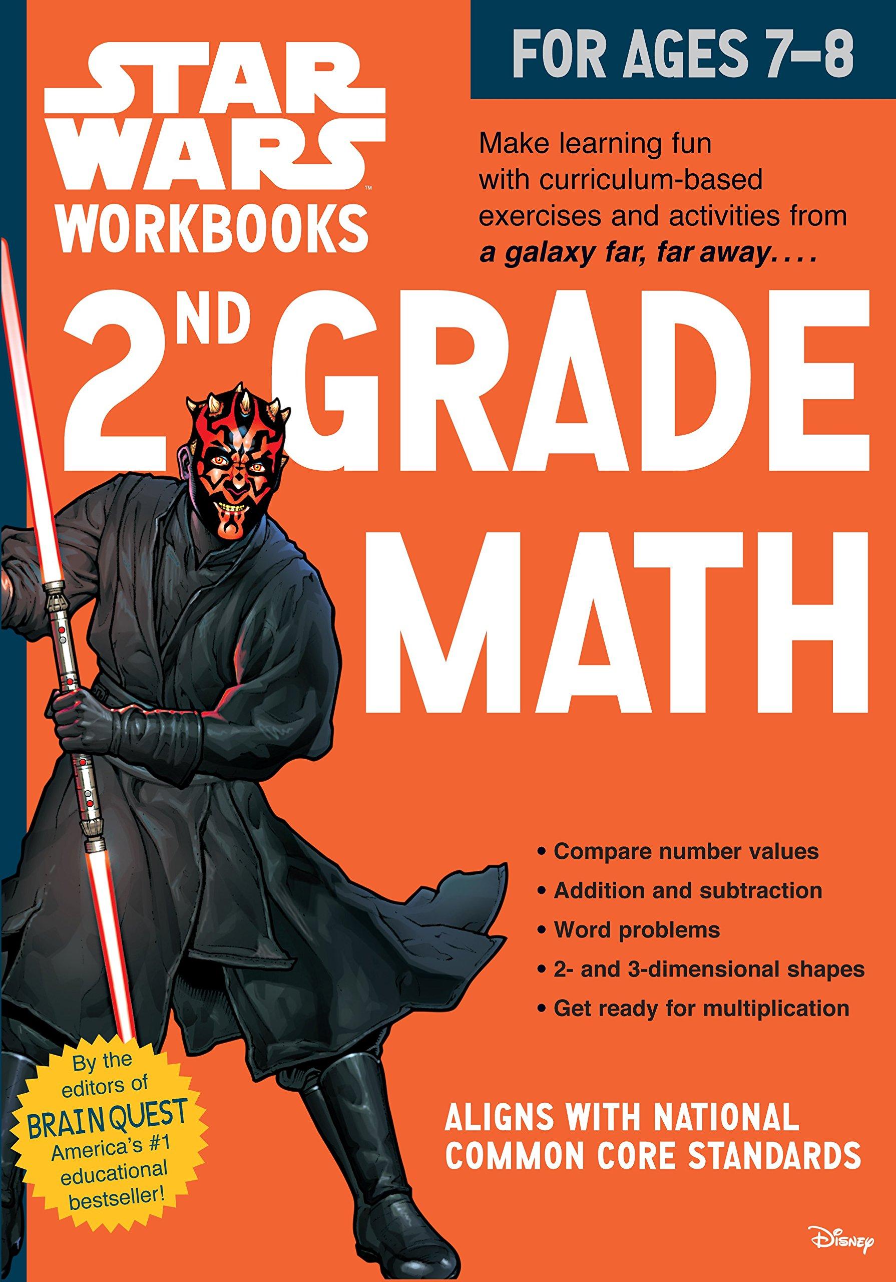 Star Wars Workbook: 2nd Grade Math (Star Wars Workbooks): Workman ...