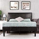 Zinus Gerard Faux Leather Upholstered Platform Bed Frame / Mattress Foundation / Wood Slat Support / No Box Spring Needed / E