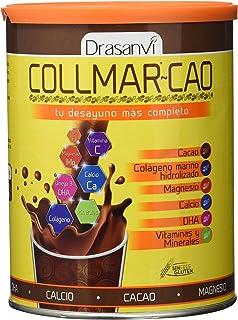 Collmar Cao Colágeno Marino Hidrolizado con Cacao, DHA, Magnesio y Calcio 300 g Drasanvi