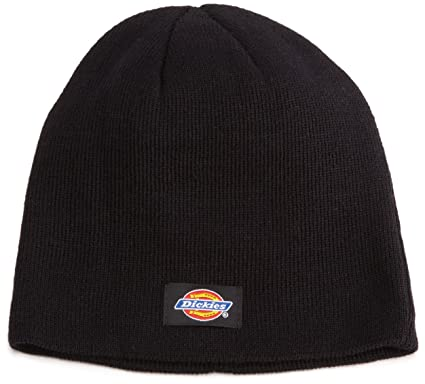 83612617 Dickies Men's Knit Beanie, Black, One Size at Amazon Men's Clothing store: Knit  Caps