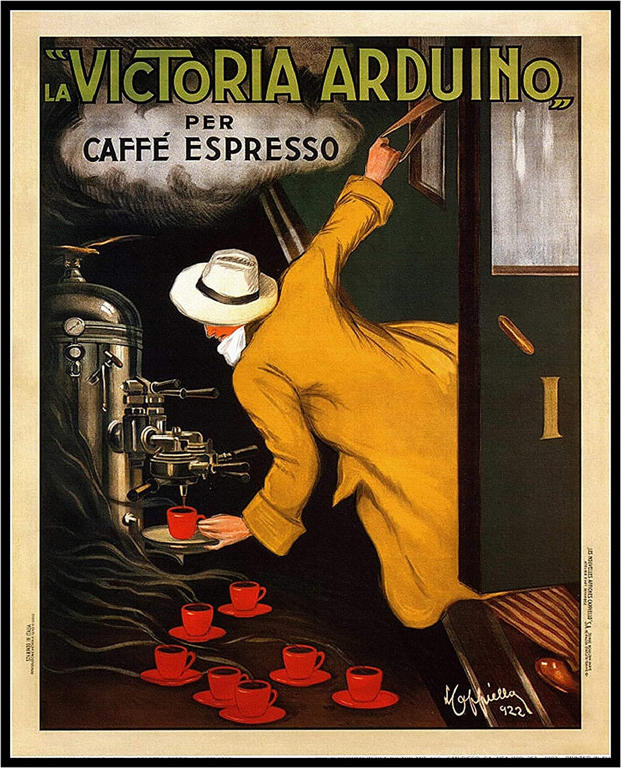 8 x 10 Photo Print Victoria Arduino 1922 Vintage Coffee Food Drink Poster Vintage Old Advertising Campaign Ads