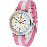 Amonev Time Teacher watch, with its purple and white strap and colourful easy to read dial this makes the perfect girls watches or boys watches