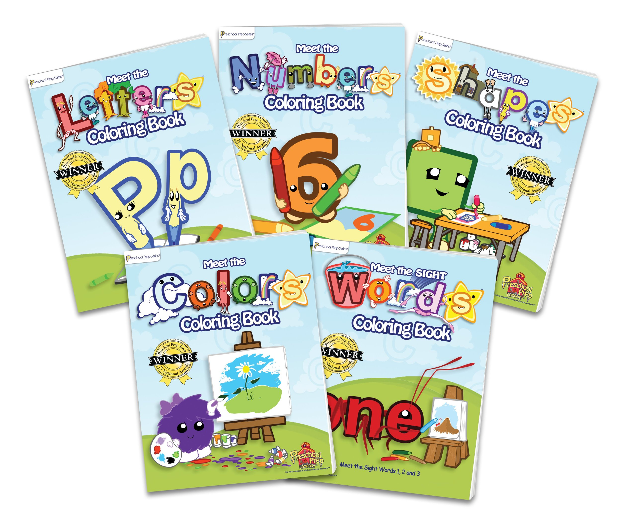 preschool prep coloring book pack 5 coloring books meet the letters meet the numbers meet the shapes meet the colors and meet the sight words kathy - Preschool Coloring Book