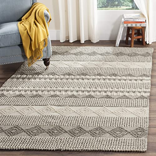 Safavieh Natura Collection NAT102A Grey and Ivory Area Rug