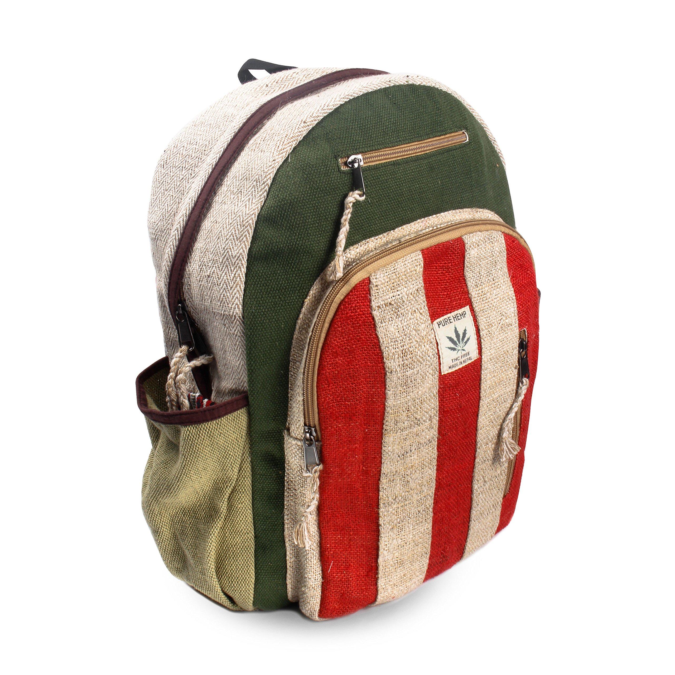 Maha Bodhi All Natural Handmade Multi Pocket Hemp Laptop Backpack - Trendy Style by Maha Bodhi