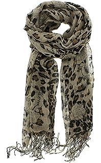 160 50cm Black White Skulls X030 Fashion Ladies Scarves Chiffon Womens Shawls
