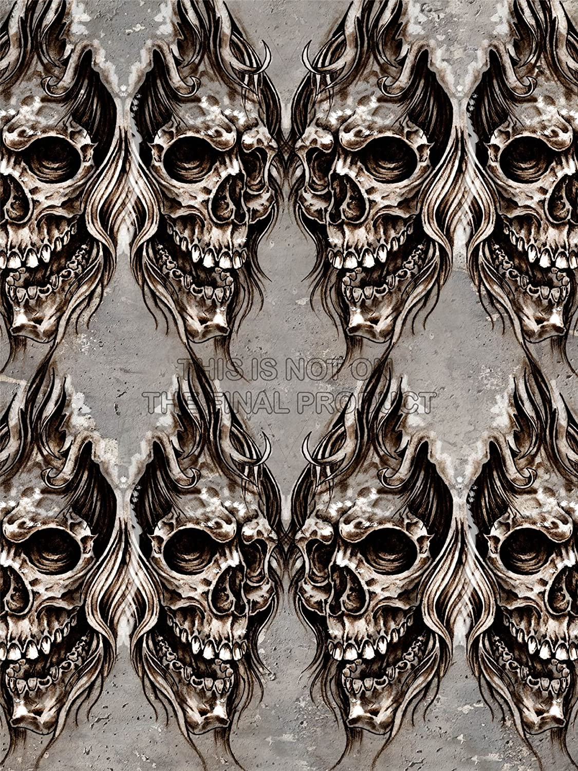PAINTING DRAWING DESIGN TATTOO SKETCH CREEPY SKULL WALL ART ...