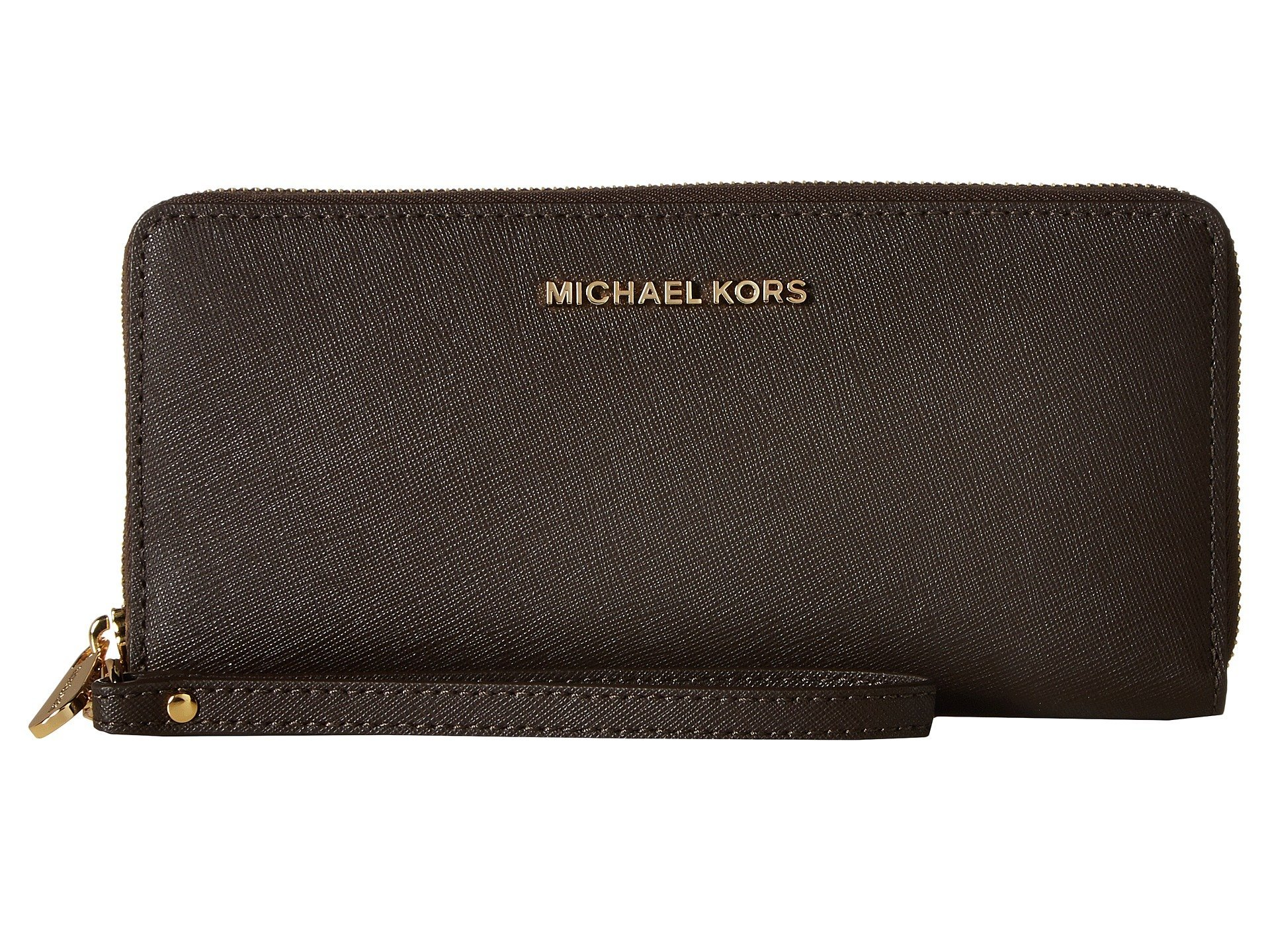 MICHAEL Michael Kors Jet Set Travel Leather Continental Wallet (Coffee)
