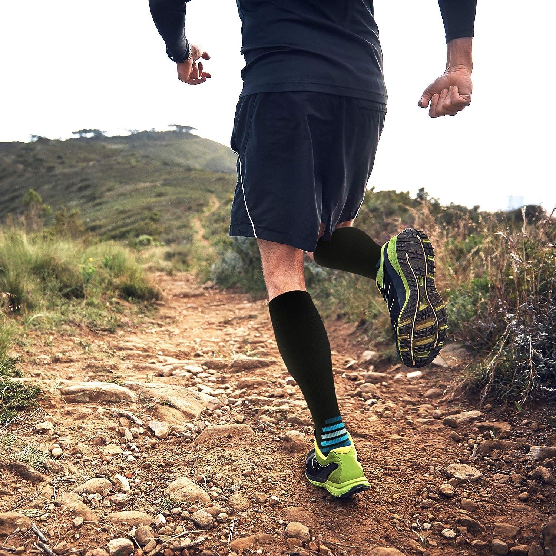cf7c1567b1 aZengear Compression Socks Men Women - Flight Socks - Compression Stockings  Athletics Running Skiing Travel Nurses