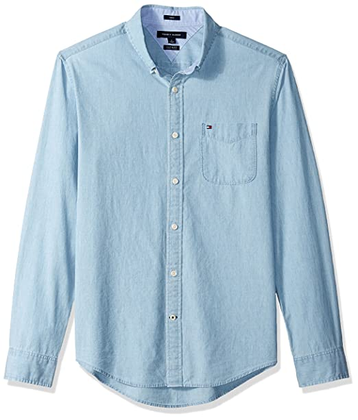 8b17c3bb Tommy Hilfiger Mens Donny Chambray Long Sleeve Shirt Casual Button-Down  Shirts: Amazon.ca: Clothing & Accessories