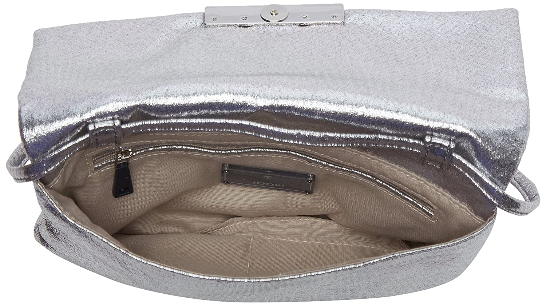 Sparkle Yanis Shoulderbag Shf, Womens Shoulder Bag, Silber (Gun), 2x14x24 cm (B x H T) Joop