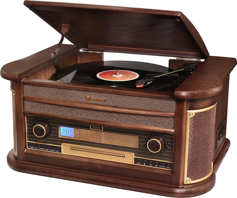 Roadstar HIF-1996BT Sistema de Audio Vintage con Bluetooth: Amazon ...