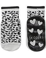 Skidders Baby Girls' Leopard Black and Grey