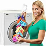 SockDock 2 Pack Sock Laundry Tool, Organizer, Easy Clips & Locks Paired Socks without Ties, Bags or Dividers (Red)
