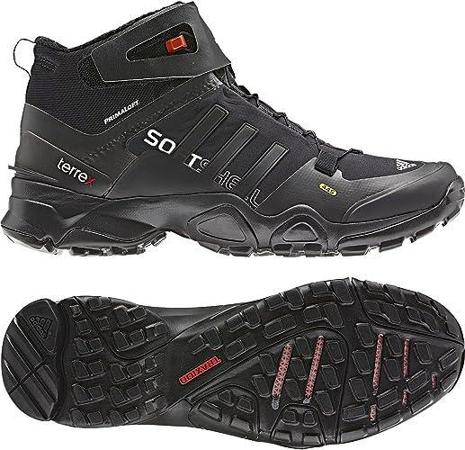 Amazon.com: Adidas Terrex Softshell Mid Boot - Men's Black / Core ...