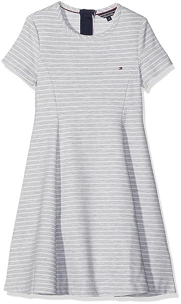Tommy Hilfiger Ottoman Stripe Skater Dress S/S, Vestido para Niñas: Amazon.es: Ropa y accesorios
