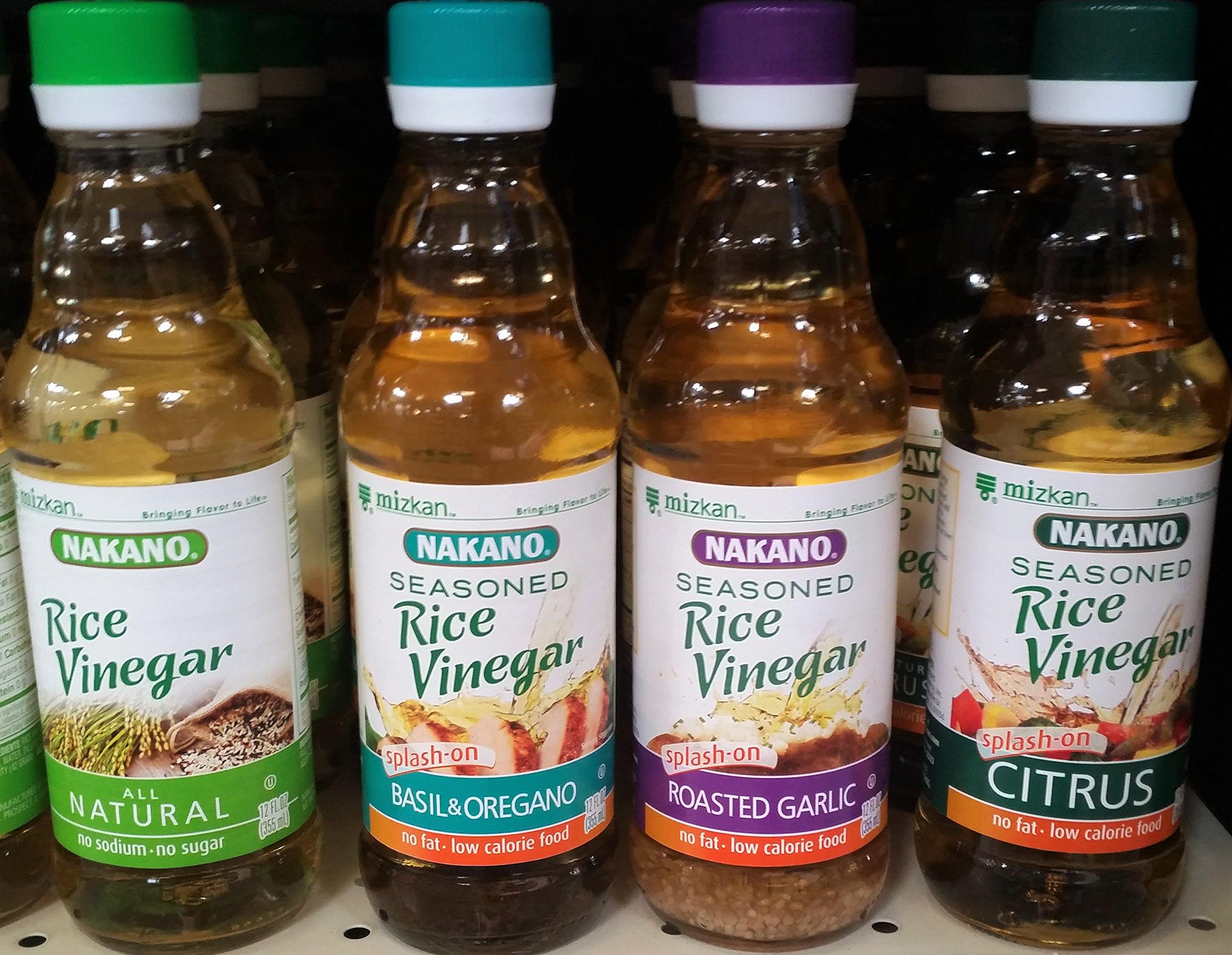Nakano Rice Vinegar Variety Pack 12 oz (Pack of 4)
