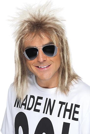 Amazon.com  Smiffys Men s 80 s Blonde Mullet Wig b2131067fc