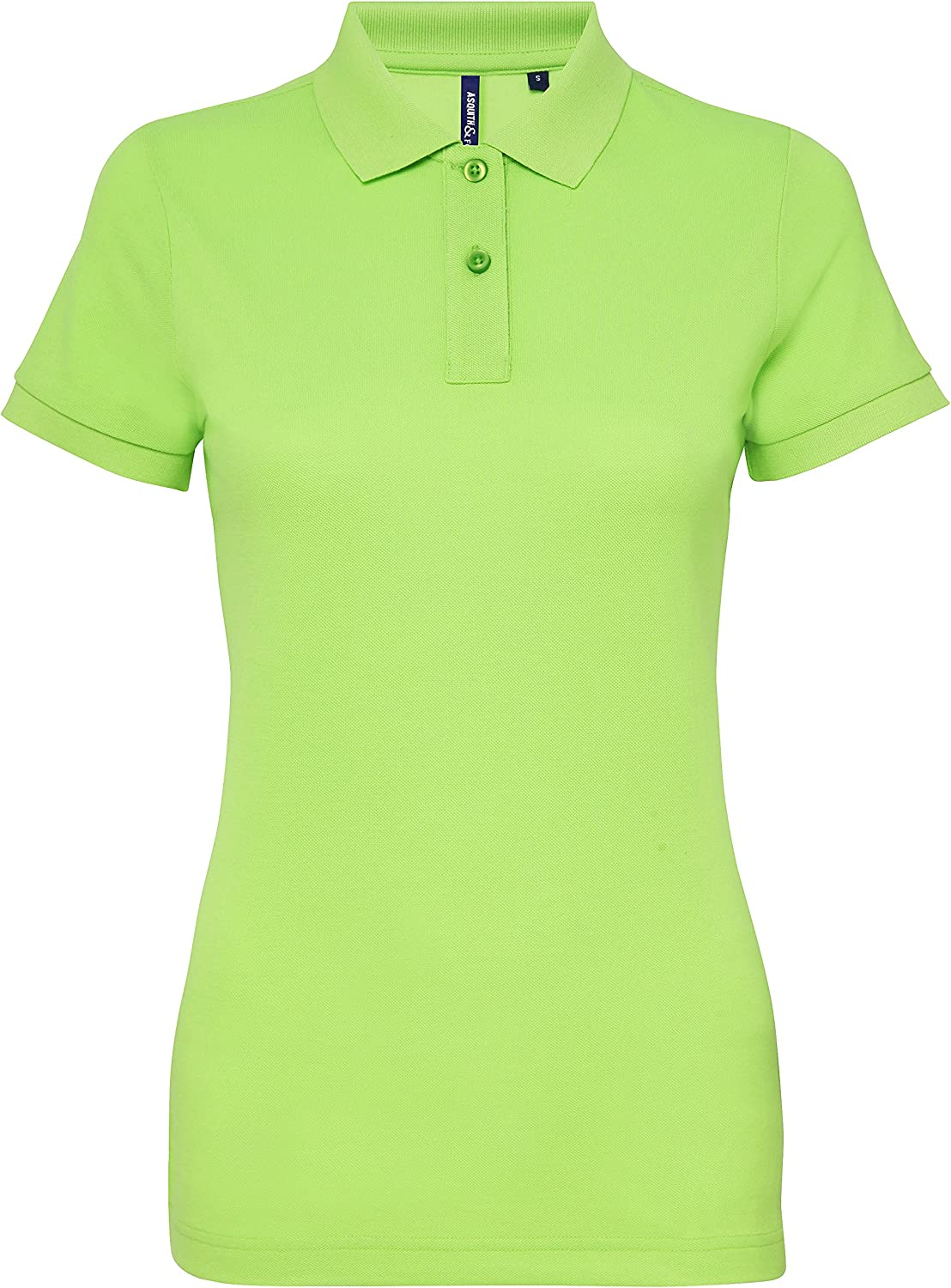 Asquith & Fox Womens Poly/Cotton Blend Polo, Verde (Neon Green ...