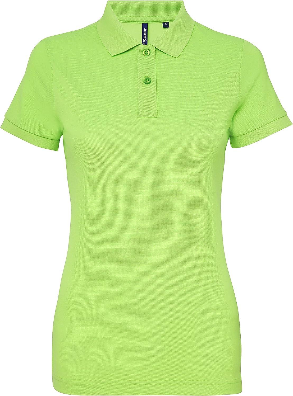 Asquith & Fox Womens Poly/Cotton Blend Polo, Verde (Neon Green ...