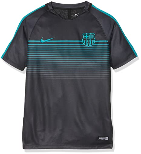 Nike Youth FC Barcelona Football Top-BLACK (S)