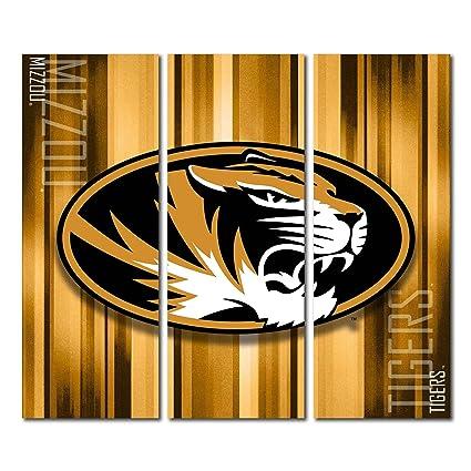 Victory Tailgate Missouri Mizzou Tigers Canvas Wall Art Triptych Rush Design