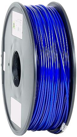 Esun 3d impresora filament, PLA, 3 mm, 1 kg Carrete, color azul ...