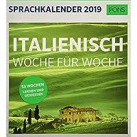 PONS Sprachkalender 2019: Italienisch Woche für Woche