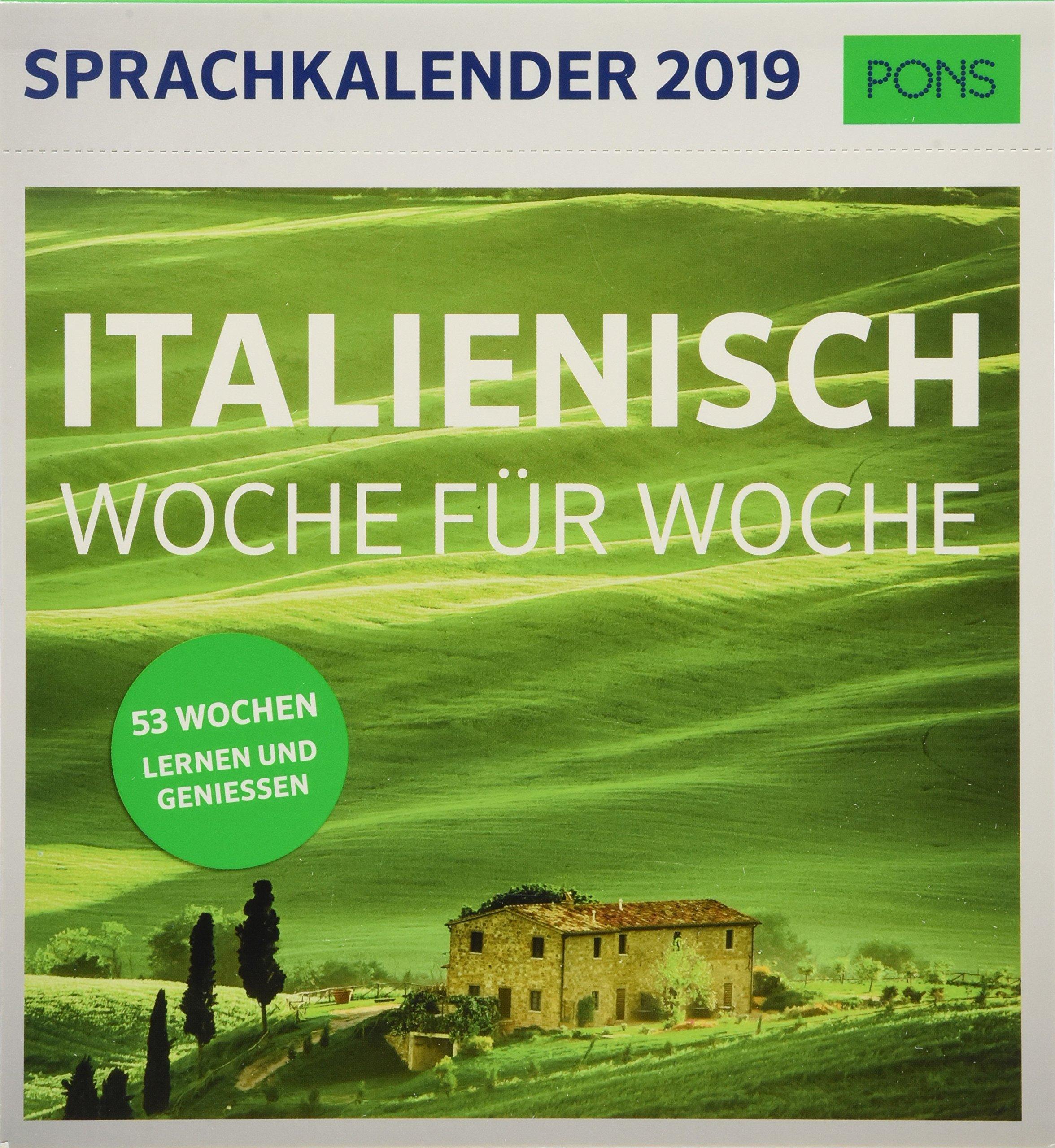 Pons Sprachkalender 2019 Italienisch Woche Fur Woche Amazon De Bucher