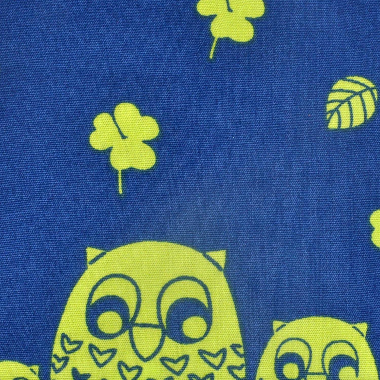 Trendiges Stofftaschentuch// Einstecktuch aus Baumwolle Flamingos blau