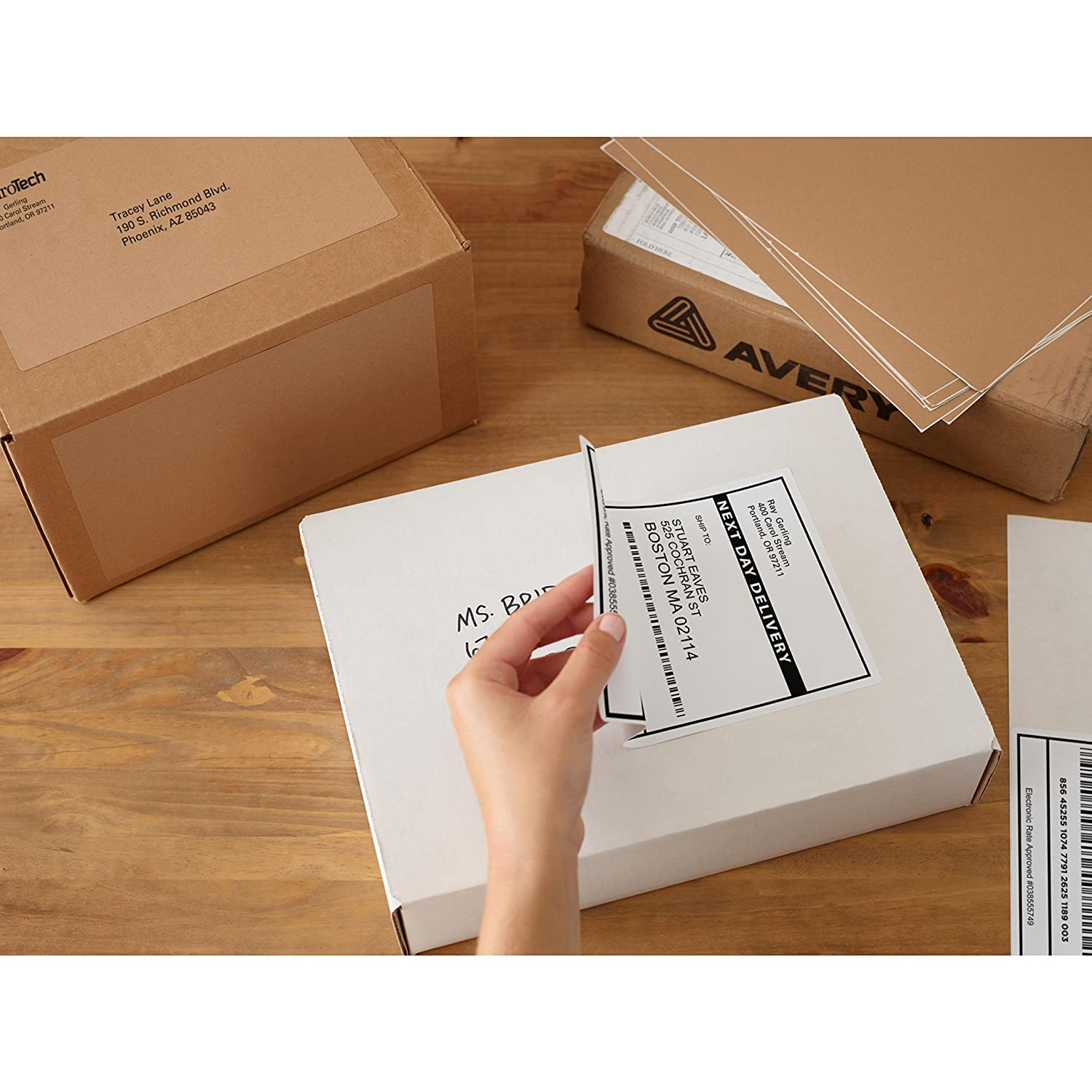 avery shipping address labels inkjet printers 150 labels 3 1 3x4