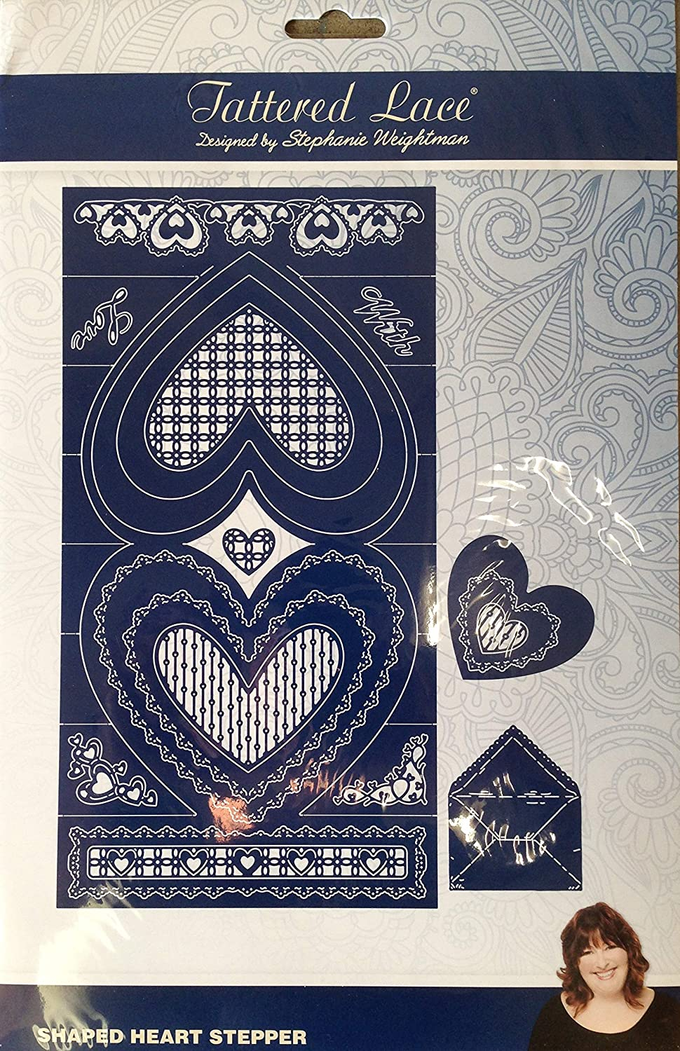 Tattered Lace Shaped Heart Stepper Die Set 436340