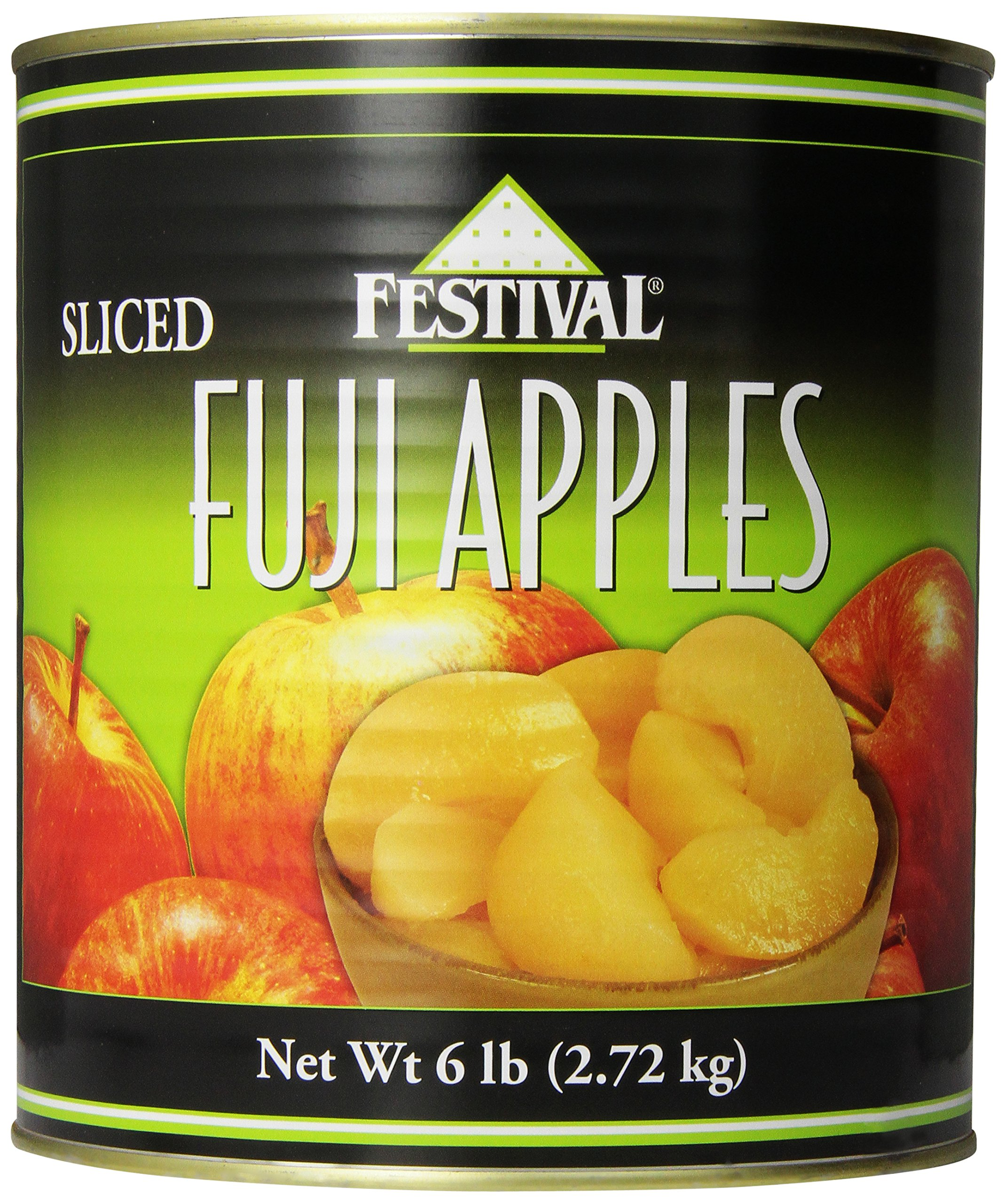 Festival Sliced Fuji Apples, 6-Pound (Pack of 2)