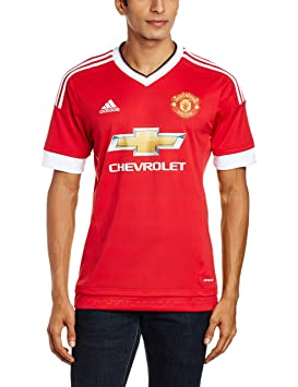 28f76c10 adidas Men's Mufc H Jsy Manchester United Fc Standard Equipment T-Shirt, Red /