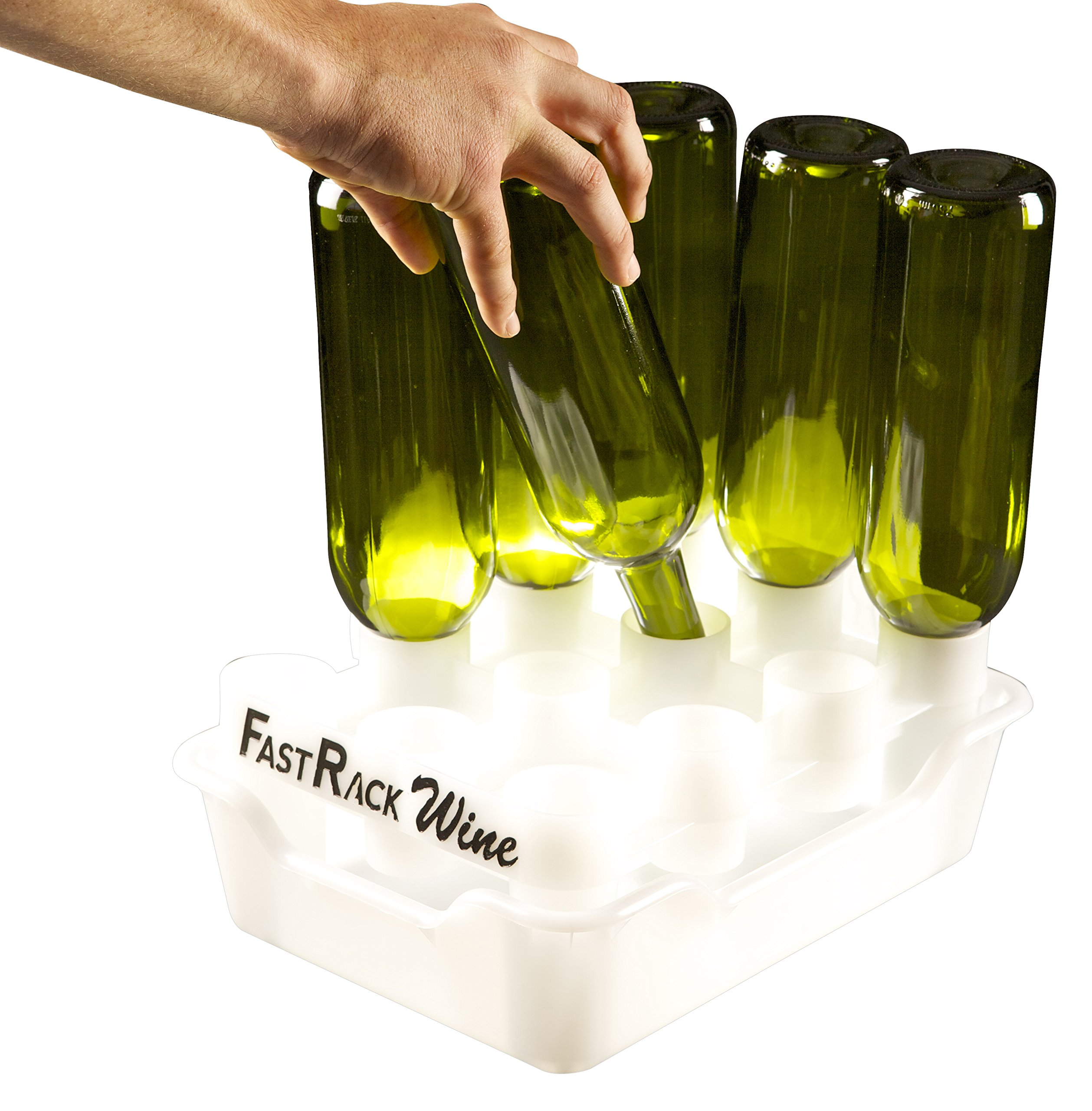 FastRack Bottle Drying Rack - Bottle Drying Tree alternative; Dry & Store your Wine or Bomber/Belgian Bottles; Perfect addition to your Wine Fermentation Kit (FastRack12 One Rack & One Tray) by Fastrack (Image #1)
