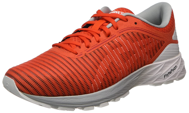 Asics Dynaflyte 2, Zapatillas de Entrenamiento para Hombre 43.5 EU Rojo (Cherry Tomato / White / Mid Grey)
