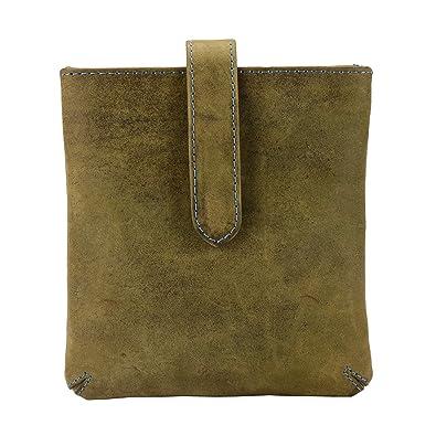 f1b46865d64 MANDAVA Top Grain Genuine Hunter Leather Crossbody Bag Simple ...