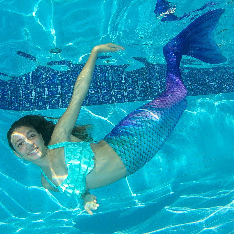 Fin Fun - Meerjungfrauenschwanz zum Schwimmen mit Monoflosse Monoflosse Monoflosse für Mädchen, Jungen, Kinder und Erwachsene B07FB7VBR5 Trainingsflossen Bestellungen sind willkommen 0fde0f