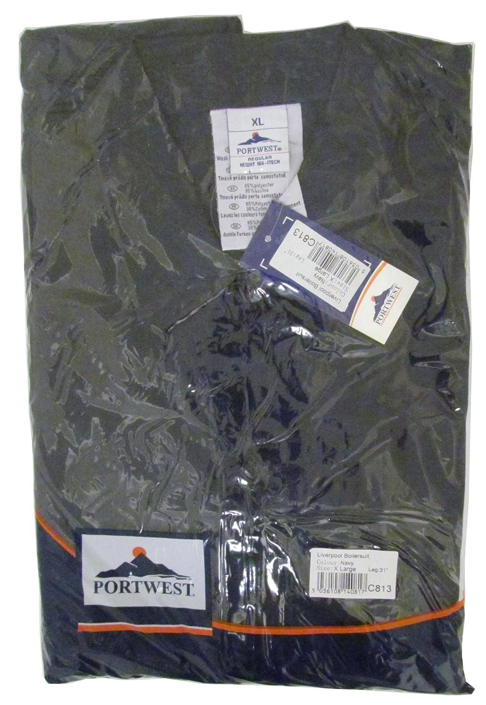 Portwest C813RERXXXL Liverpool zip tuta rosso regular 3/x -large
