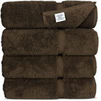 Luxury Hotel & SPA Towel 100% Genuine Turkish Cotton (Bath Towel - Set of 4, Cocoa)