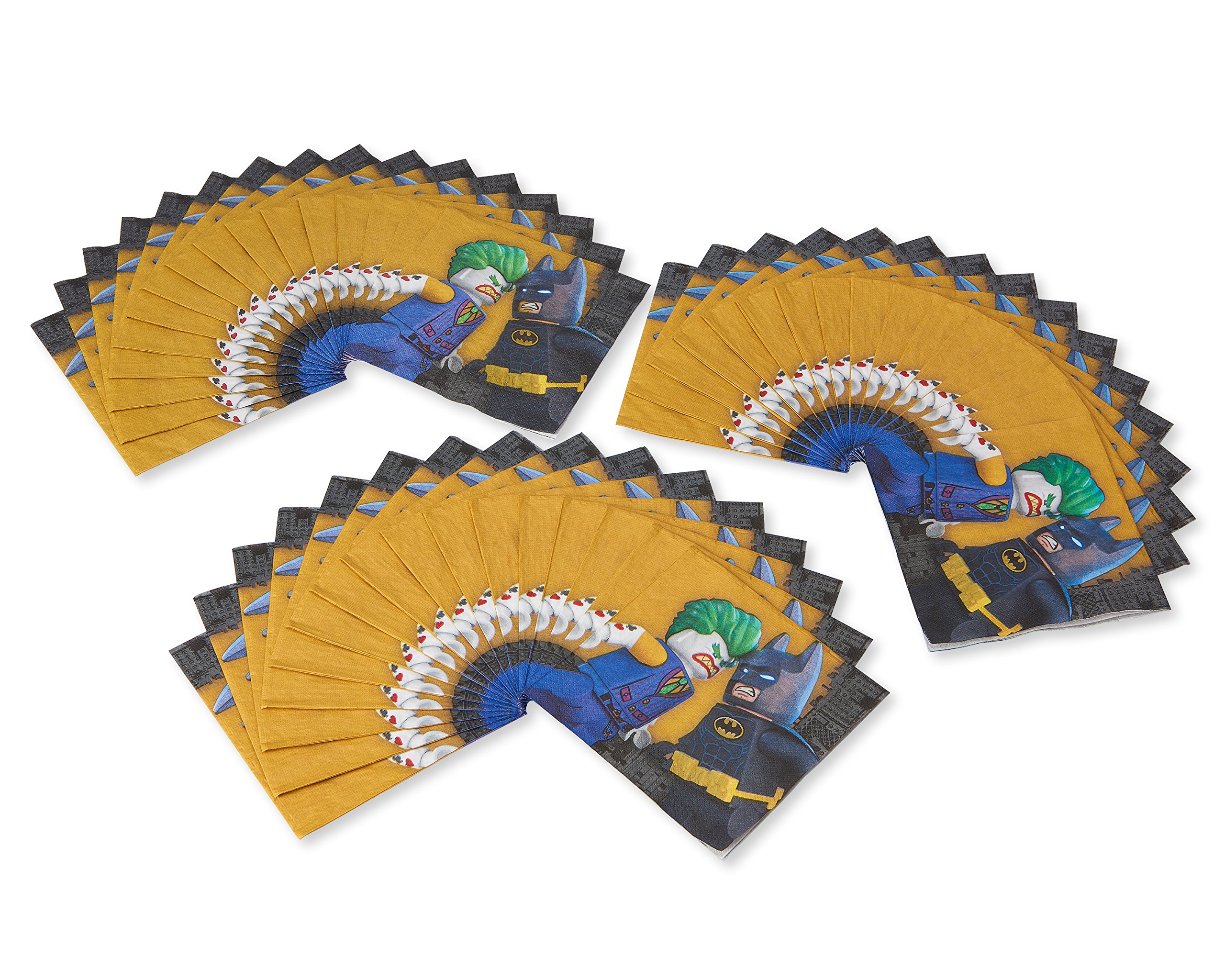 American Greetings Lego Batman Paper Party Napkins, Lunch Napkins, 48-Count