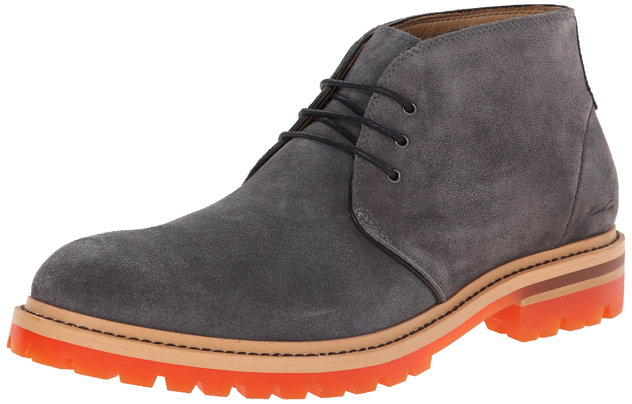 Kenneth Cole New York Men's Strobe Lights Suede Chelsea Boot,Grey,10.5 M US