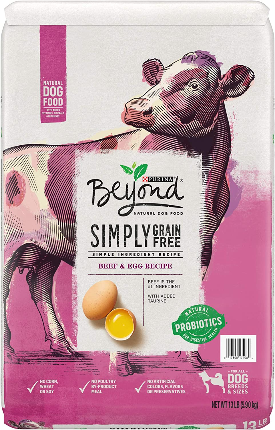 Purina Beyond Grain Free, Natural, Beef & Egg Adult Dry Dog Food