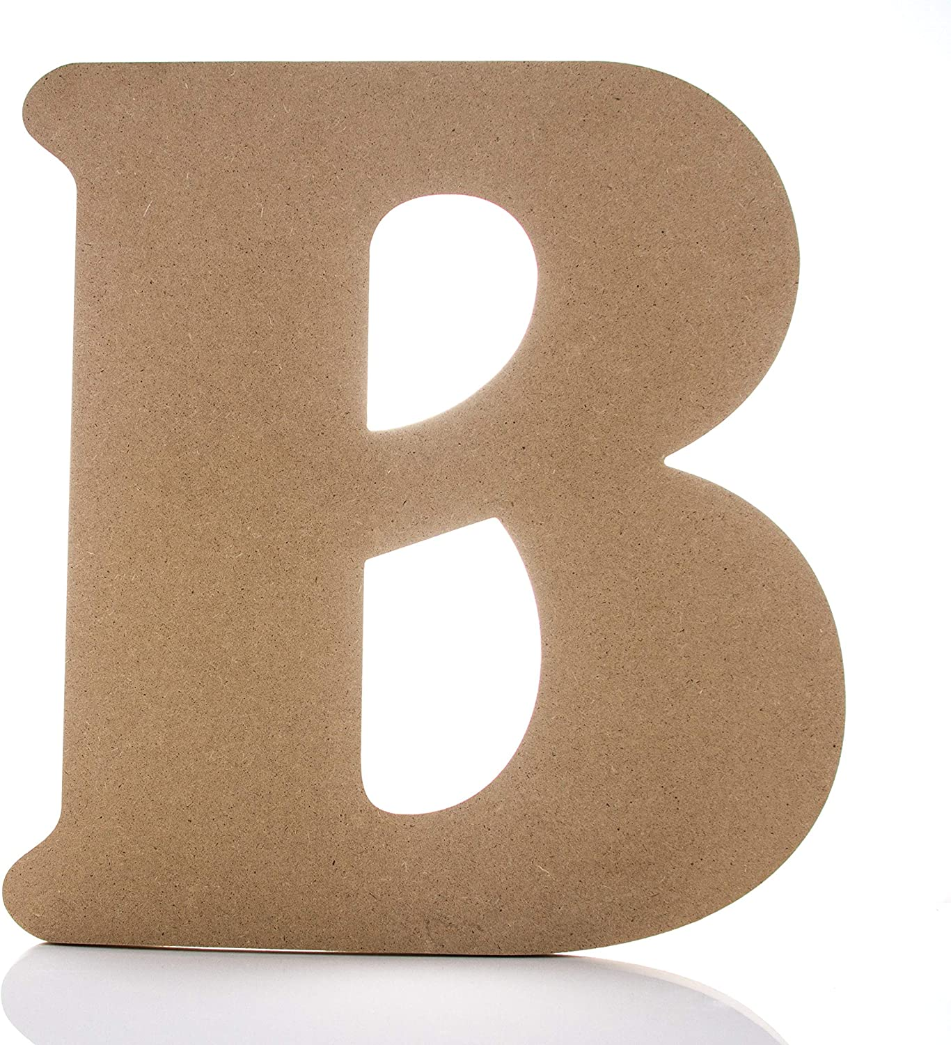 "Large Wooden Letters - 12"" - B - Premium Unfinished Wood Letters for Wall Decor (12 inch, B)"