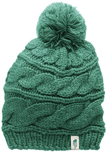 77e60abef THE NORTH FACE Women's Triple Cable Pom Beanie, Deep Sea, One Size ...