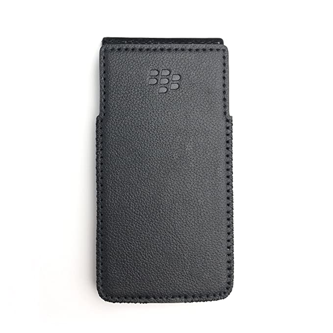 info for 2c56a 4c544 BlackBerry KeyOne Leather Case with Built-in Holster No Belt Clip (Total  Black)