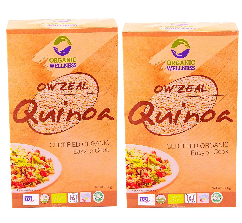 Organic Wellness Quinoa 500 Gram Pack   Pack of 2